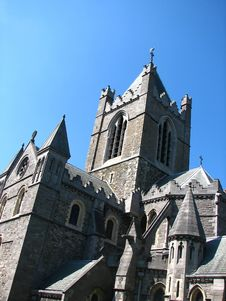 Dublin Christ Church Cathedral Royalty Free Stock Image