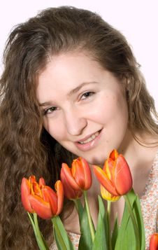 Free Smiling Young Woman Stock Photography - 9363502