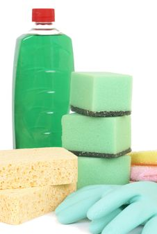 Free Variety Of Cleaning Products Royalty Free Stock Image - 9363786