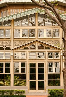 Free Glass House With Wood Carving Royalty Free Stock Photo - 9363995