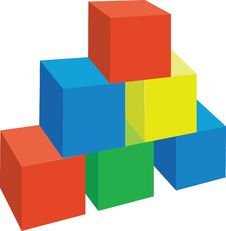 Cubes 01 Royalty Free Stock Photos