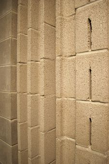 Acoustical Cinder Block Stock Image