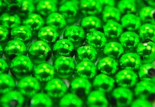Free Green Beads Royalty Free Stock Image - 9366446
