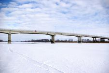 Free Bridge In Winter Stock Photography - 9367122