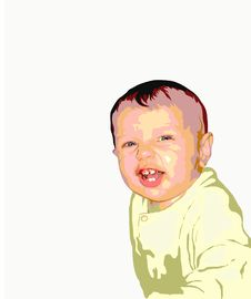 Free Illustration  Of Baby  Smile Stock Photos - 9367183