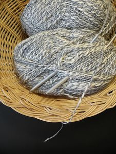 Free Threads In Basket Royalty Free Stock Image - 9367496