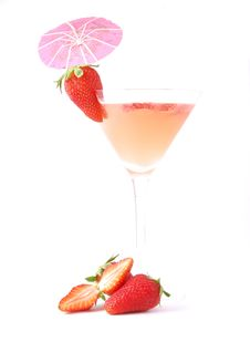 Free Strawberry Cocktail Stock Photo - 9367820
