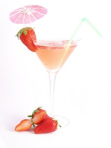 Free Strawberry Cocktail Royalty Free Stock Photos - 9367858