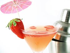 Strawberry Cocktail And Fruit Royalty Free Stock Images