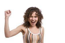 Free Very Frustrated And Angry Mad Woman. Stock Photography - 9368072