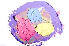 Acrylic Paint Isolated Royalty Free Stock Photo