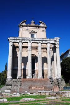 Ancient Temple In Roman Forum, Rome Royalty Free Stock Images