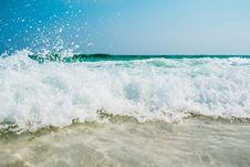 Free Waves Washing On Sandy Beach Royalty Free Stock Photo - 93617435
