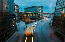 Free Blur Of Traffic On City Street At Night Stock Photography - 93617532