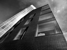 Free High Rise Buildings In Black And White Stock Photos - 93617643