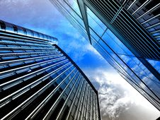 Free High Rise Buildings Against Blue Skies Royalty Free Stock Images - 93617669