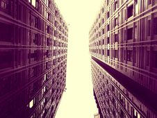 Free High Rise Buildings In Sepia Stock Images - 93617674