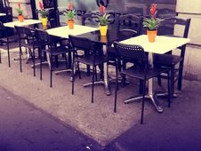 Free Outdoor Tables In Cafe Royalty Free Stock Images - 93617699