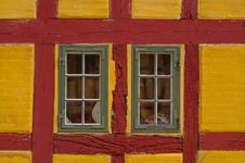 Free Windows In Red And Yellow Building Stock Photography - 93682532