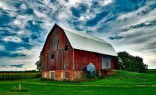 Free Barn On Field Against Sky Stock Photos - 93682593