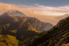 Free Sunset Over Alpine Landscape Royalty Free Stock Photography - 93682757