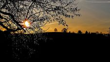 Free Sunset Over Rural Field Stock Images - 93682774