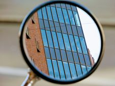 Free Reflection Of Building In Small Mirror Stock Photography - 93682822
