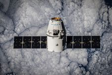 Free Spacex Satellite In Space Stock Image - 93682851