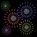 Free Firework Flowers Stock Images - 9370084