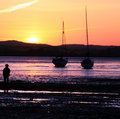 Free Sunset Boats Stock Image - 9375371