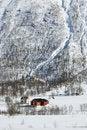Free Farm In Winter Landscape Stock Image - 9378181