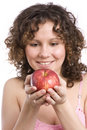 Free Woman With Apple. Stock Photography - 9379412