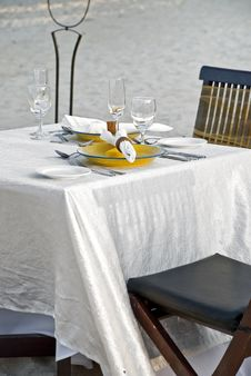 Beach Site Dinning Royalty Free Stock Photo