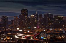 Free San Francisco At Night Royalty Free Stock Photo - 9371765