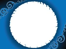 Blue Curly Corners Background Stock Photos