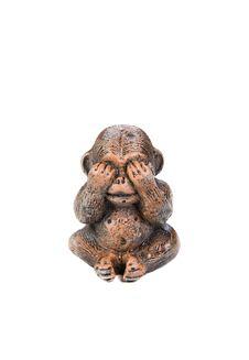 Monkey Figure Royalty Free Stock Photos