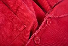 Red Corduroy Stock Image