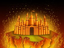 Free Castle Of Fire Stock Photos - 9373373