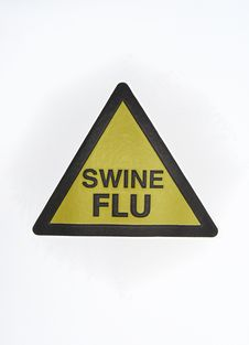 Free Warning Swine Flu Signal Royalty Free Stock Photos - 9373868