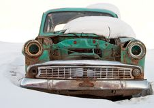 Old Car Is Broken Royalty Free Stock Image