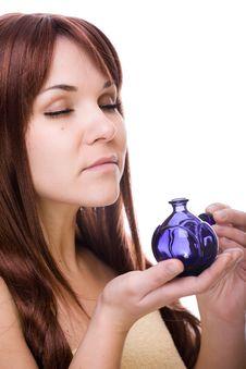 Beauty With Perfume Royalty Free Stock Photo