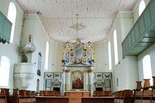Inside Of Bod Church (Romania)