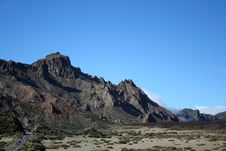 Free Volcanic Landscape On Teide Royalty Free Stock Photography - 9375617