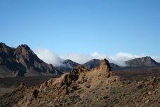 Free Volcanic Landscape On Teide Stock Photography - 9375622