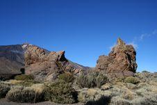 Free Volcanic Landscape On Teide Stock Image - 9375711