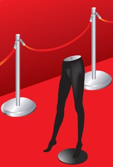 Free Red Carpet And Model Royalty Free Stock Photo - 9376165