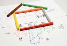 Free Kids Illustration. Puzzle. Home Stock Photos - 9376423