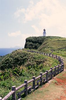 Free A Trail To The San Diego Lighthouse In Taiwan Royalty Free Stock Photo - 9378055