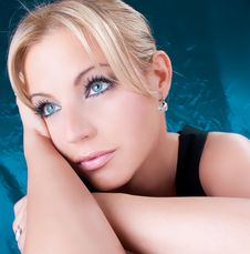 Free Close-up Portrait Of A Beautiful Blondy Woman Stock Photos - 9378093
