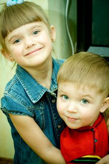 Free Two Siblings Stock Photo - 9378230